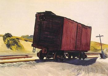 Oil painting-freight_car_at_truro.jpg