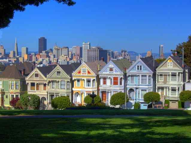 San Francisco California Alamo Square Photo Picture Image