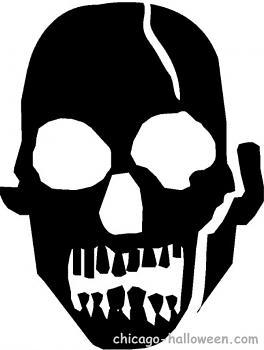 Free Pumpkin Carving Patterns-scary-skeleton-head.jpg