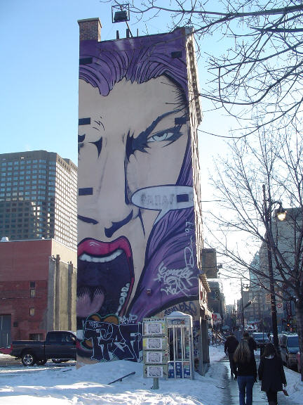 Street art general city discussion city profile forum for Art mural montreal