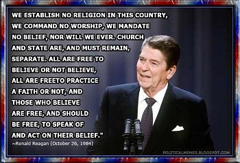 The official pro Liberal thread-ronald-reagan-establish-no-religion-quote-political-meme.jpg