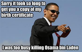 Mideast Reactions to bin Laden's death-osamadeadbirthcert.jpg