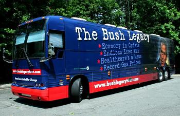 Sarah Palin launches bus tour-bush_bus.jpg