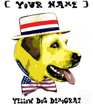 Will Michele Bachmann's gaffes hurt her presidential candidacy?-yellow_dog_democrat_shirt.jpg