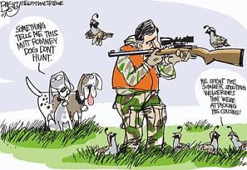 Funny Political Cartoons and Memes-mitt-romney-hunting-cartoon.jpg