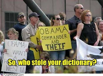 Funny Political Cartoons and Memes-teabaggers-stole-dictionary.jpg