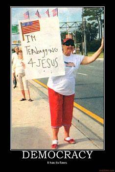Funny Political Cartoons and Memes-teabagging-jesus-democracy.jpg