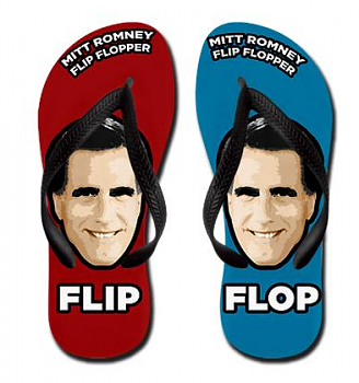 Gloria Allred -  Cain offered client 'his idea of a stimulus package'-romney-flip-floppers.png