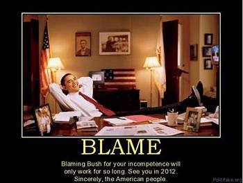 Funny Political Cartoons and Memes-bush-fault.jpg