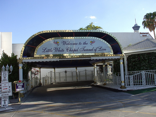 Las Vegas Nevada Little White Wedding Chapel Tunnel Of Love Photo Picture Image