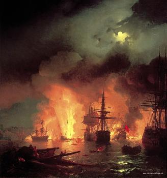 Barbary Pirate Fleet Sunk-aivazovskiy_chesmenskiy_battle_1848.jpg