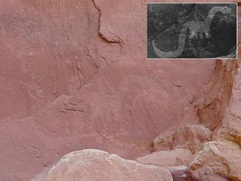 Cave Painting of 'Dinosaur' Stirs Controversy-comp.jpg
