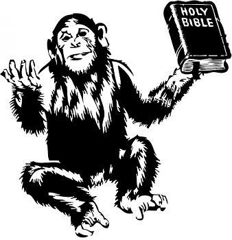 Bachmann's Stance on Evolution Demolished-bible-monkey.jpg