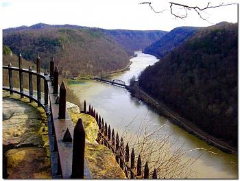 """Do you know how """"railroads"""" are built...this is amazing-new-river-gorge-hawks-nest-overlook-w.va.-usa%3D%3D%3D.jpg"""