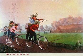 bikes-chinese-bicycle-troops-drive-shooting-sks-riflemen.jpg