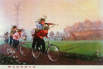 bikes-chinese-bicycle-troops-drive-shooting-sks-riflemen.jpg