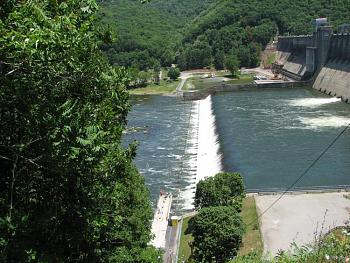 Please give me one good reason to visit West Virginia-bluestone-dam-fishing-pier.jpg