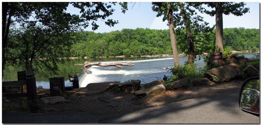 """z"" Dam On The Upper James River- Riverside Drive, Richmond, Virginia"