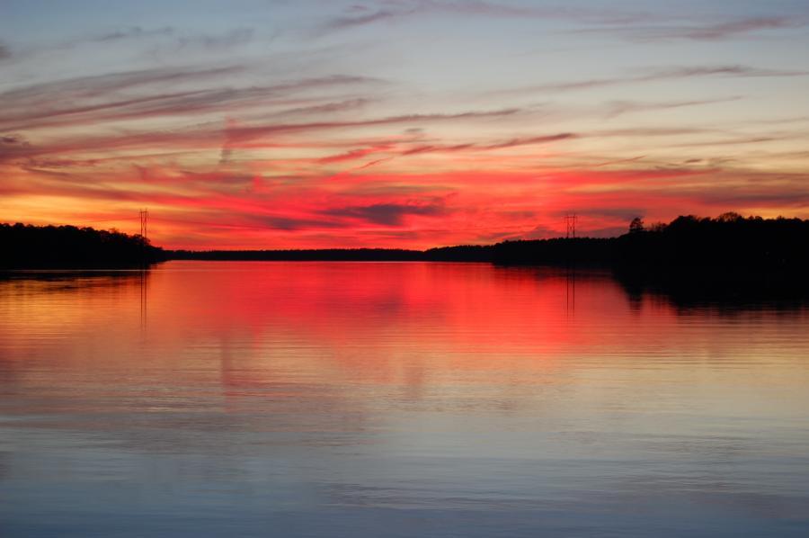 Sunset At Shearon Harris Lake