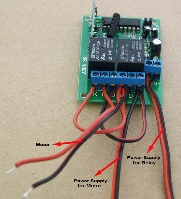 How To Reverse Motor By Simple 2 Channel Rf Remote Control Kit