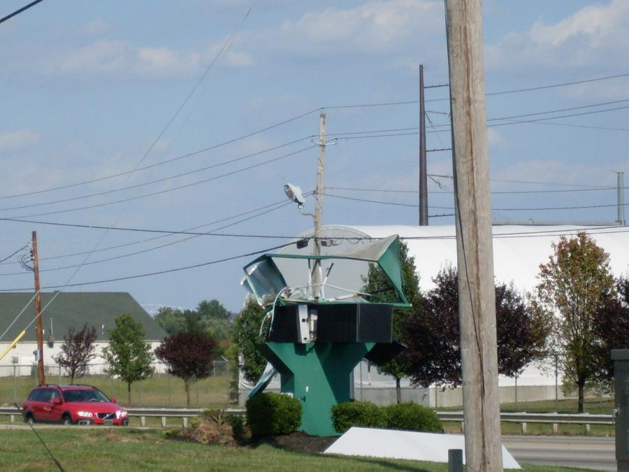 Lawrenceburg--Dearborn Savings sign--destroyed