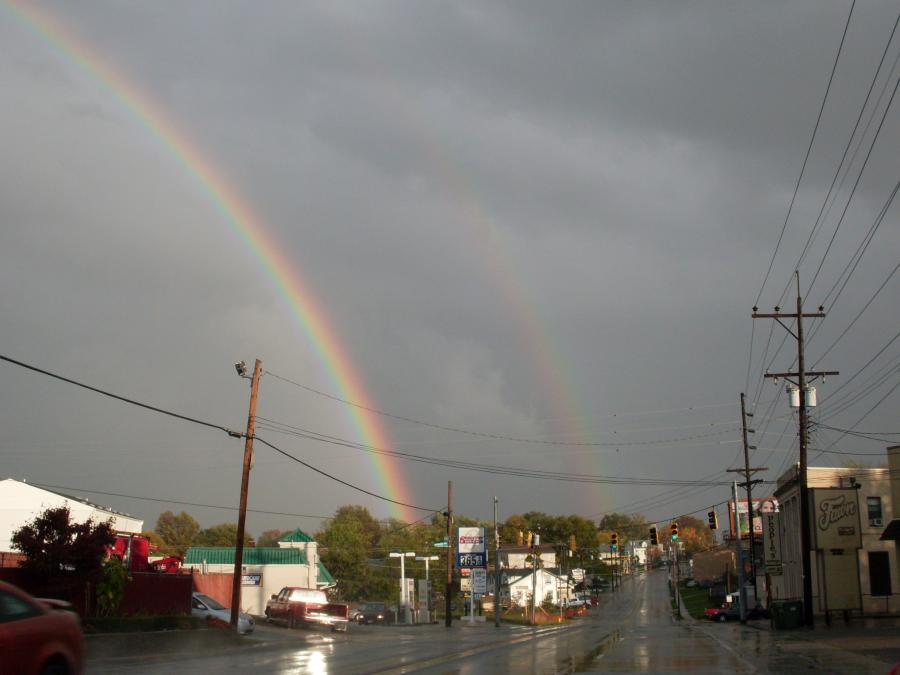 Cheviot--Harrison Avenue--double rainbow