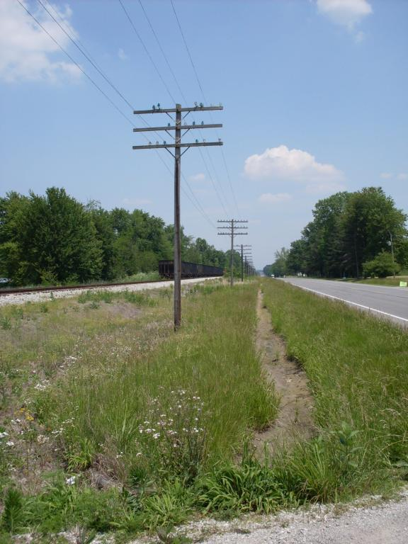 North Vernon--US 50--telegraph poles