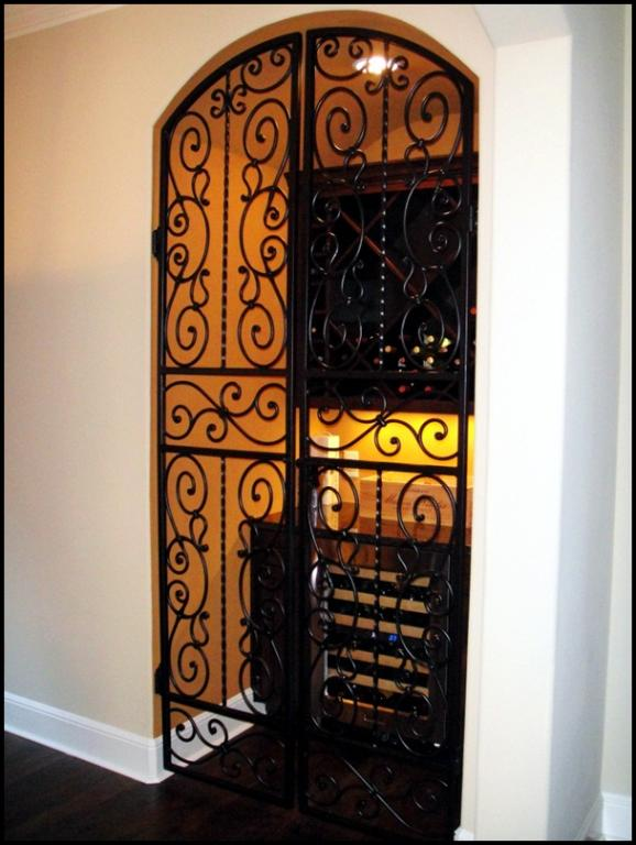 Falcon Crest Iron Wine Cellar Double Door